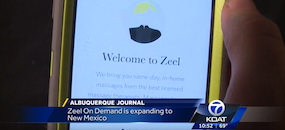 Zeel Massage On Demand in KOAT 7 Albuquerque, Zeel Massage On Demand Launches in Albuquerque