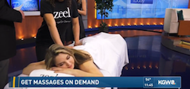 Zeel Massage On Demand in Portland Today, Zeel Massage on KGW Portland Today