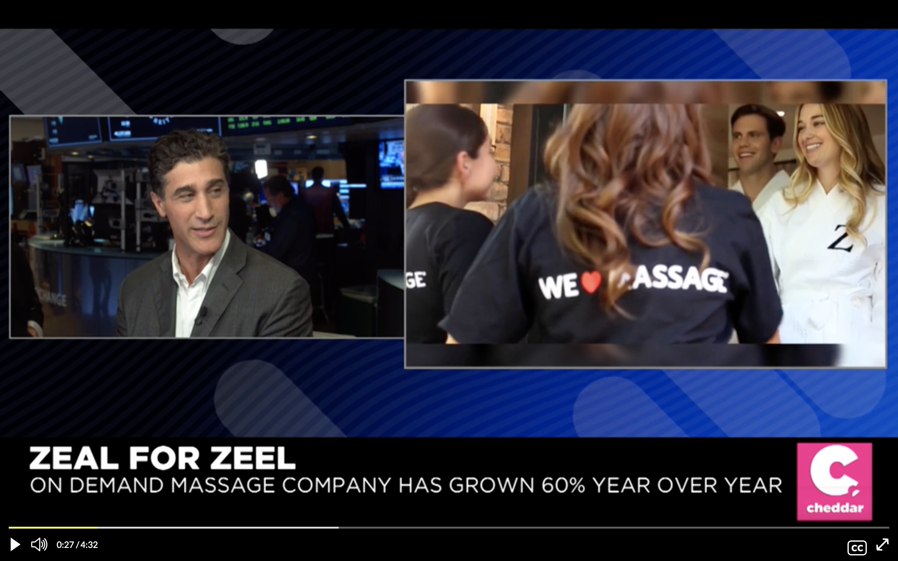 On Demand Massage Provider Zeel Seeing 60% Growth Year-Over-Year
