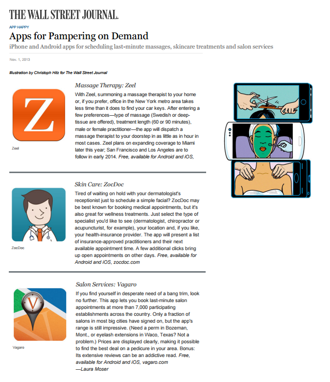 Apps for Pampering on Demand
