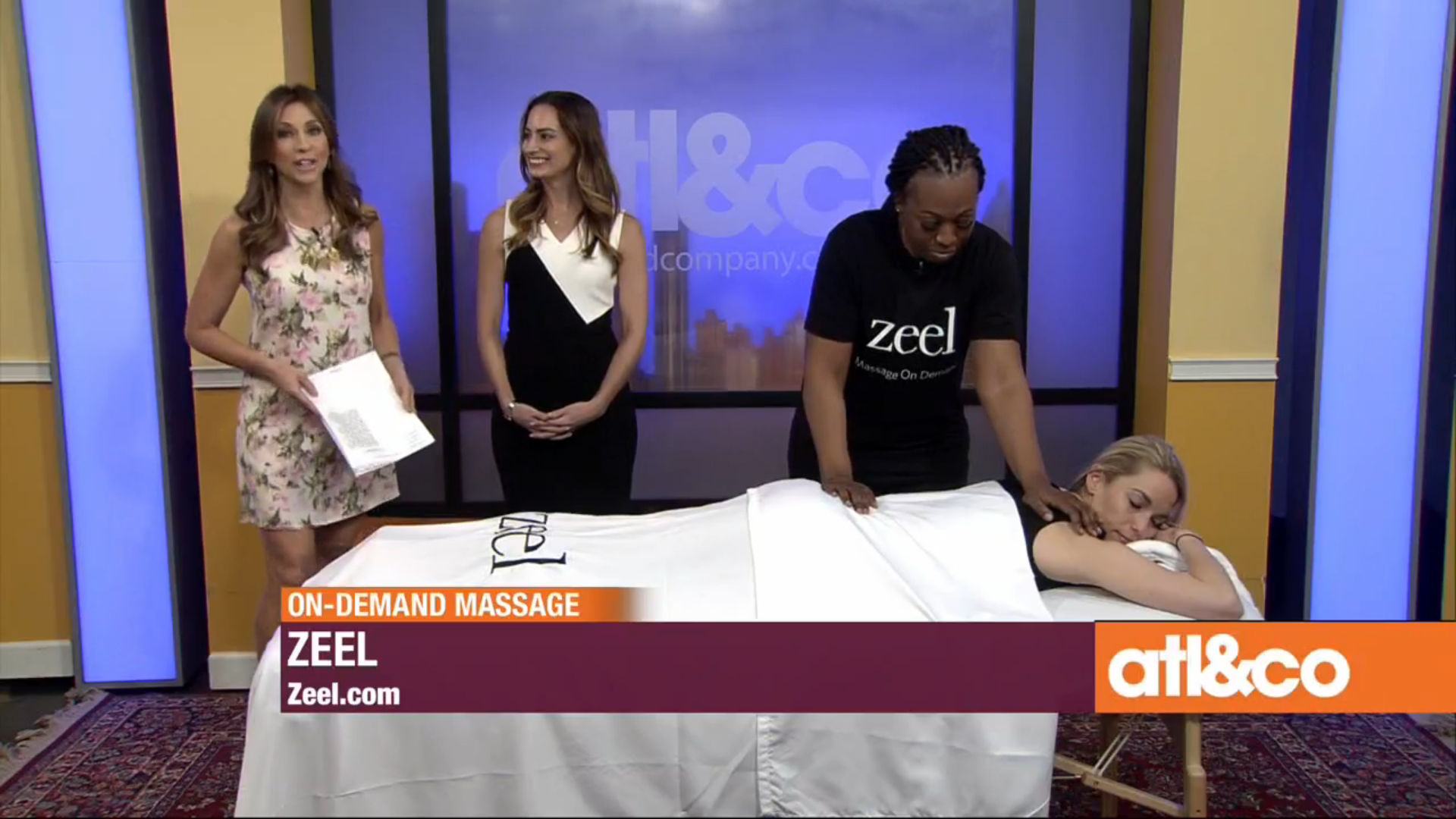 Zeel Massage On Demand in Atlanta & Company | 11Alive News, Zeel on Atlanta & Company, 11Alive News