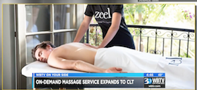 Zeel Massage On Demand in WBTV-CBS, Zeel Massage launches in Charlotte NC