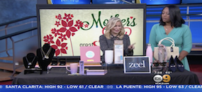 Zeel Massage On Demand in CBS LA/KCAL 9, Go-To-Girlfriend Shows Us Some Great Mother