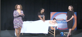 Zeel Massage On Demand in Midday Maryland, Zeel Visits WMAR Midday Maryland On National Relaxation Day