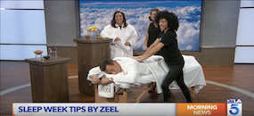 Zeel Massage On Demand in KTLA, Sleep Tips with Zeel Massage On Demand for | KTLA