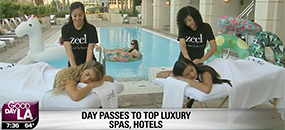 Zeel Massage On Demand in Good Day LA, Good Day LA Indulges with Zeel and DayAxe