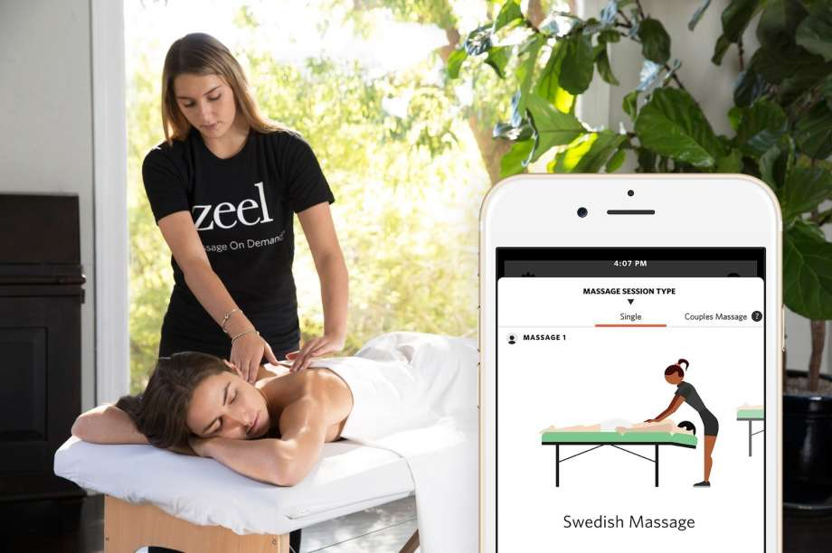 Massages join list of services delivered via app