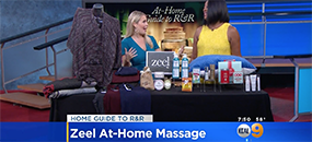 Zeel Massage On Demand in KCAL9, The Go-To Girlfriend