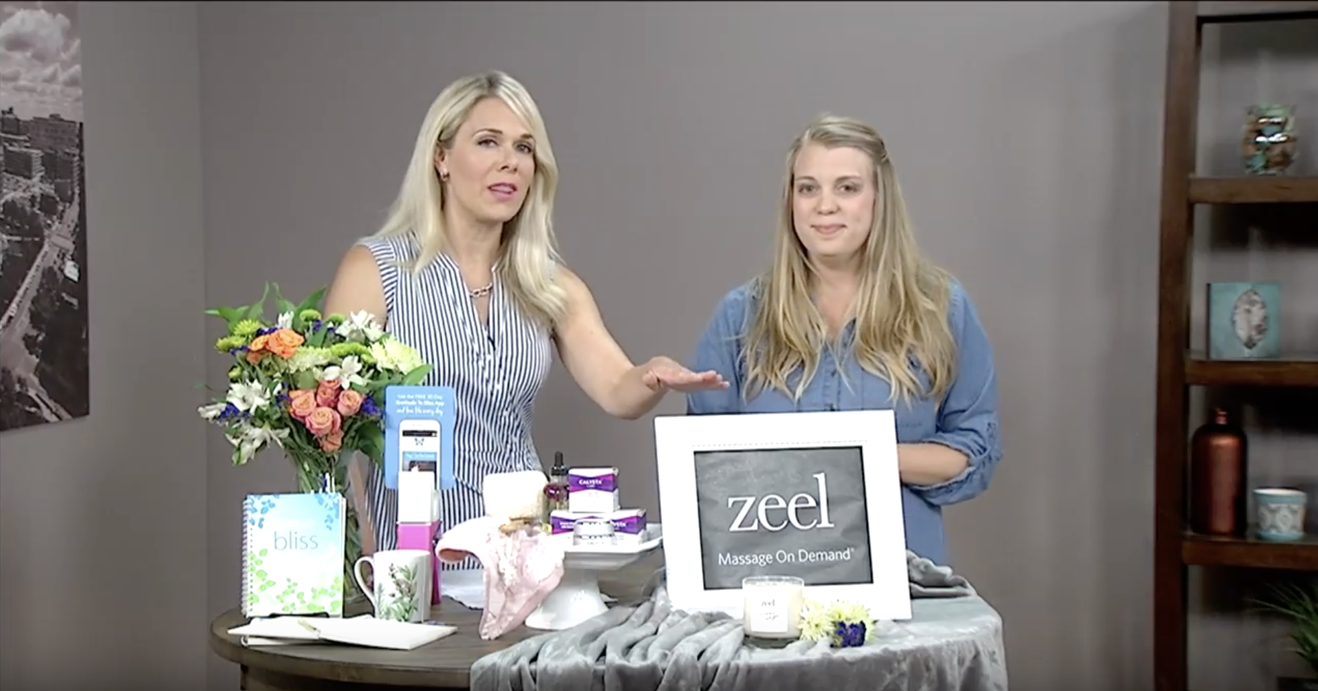 Zeel Visits Daytime Columbus on Self Care Day