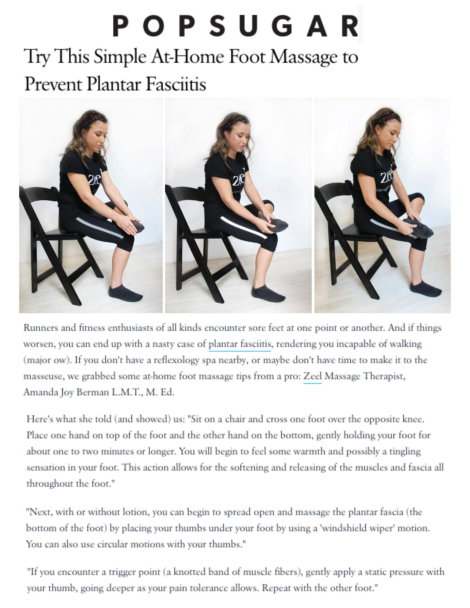 Try This Simple At-Home Foot Massage to Prevent Plantar Fasciitis