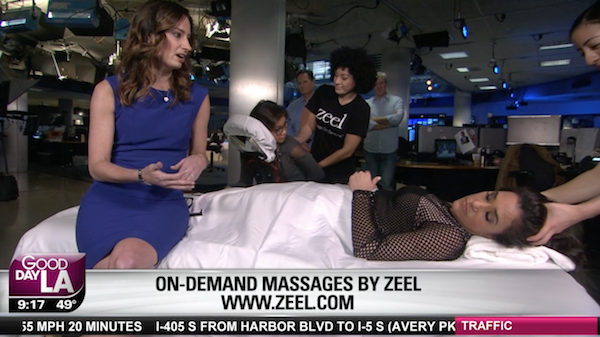 Relax with a Massage and the Zeel App