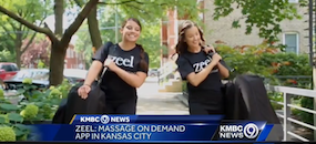 Zeel Massage On Demand in KMBC News, Zeel Massage Launches in Kansas City