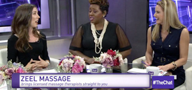 Zeel Massage On Demand in The Chat, The Chat Tuesday April 26: Tech with Brandi Bleak