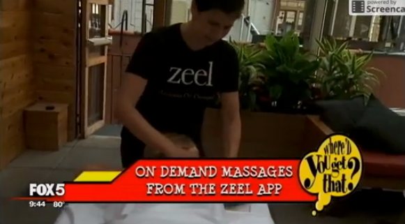 Zeel Massage On Demand in Good Day NY - Fox 5, Cool Tech Toys To Make The Rest of Summer A Blast