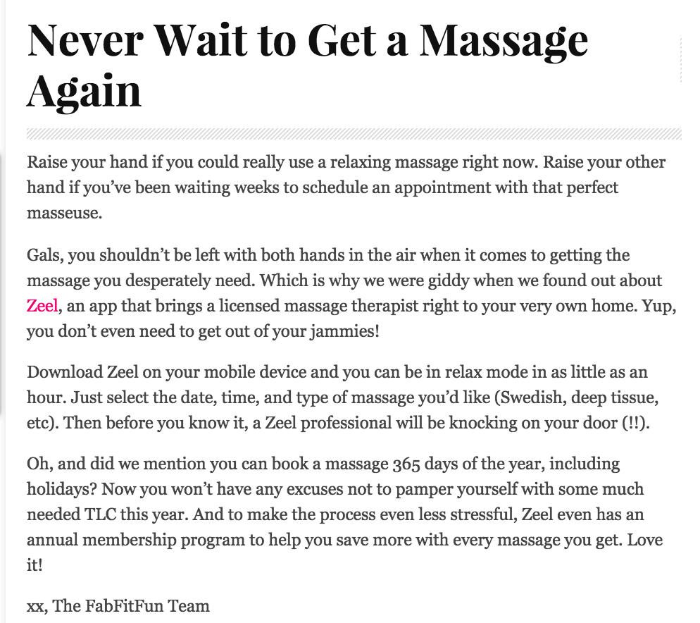 Never Wait to get a Massage Again