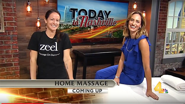 Today In Nashville with Zeel Massage On Demand