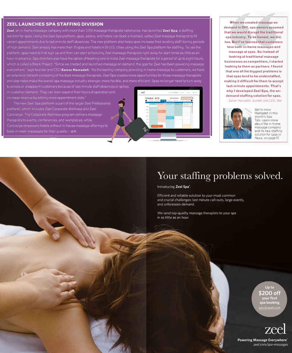 Zeel in American Spa Magazine