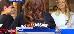 Zeel Massage On Demand in CBS Chicago, Valentine's Day Gifts For Guys