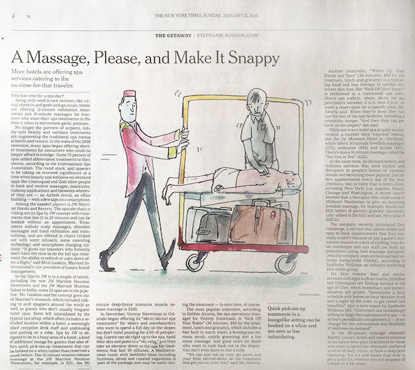 A Massage, Please, and Make It Snappy